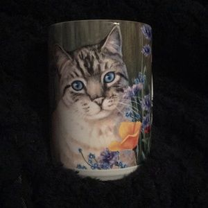 Other - Cat in flowers mug